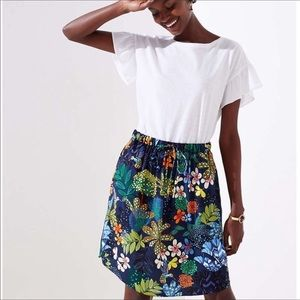 ANN TAYLOR LOFT  Tropicalia Tie Waist Pocket Skirt